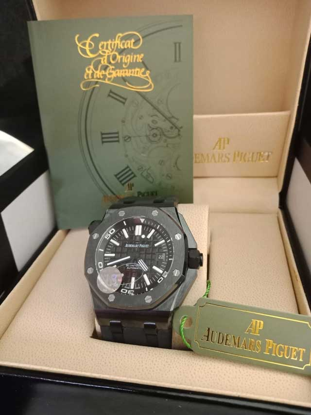 AP Audemars Piguet RO rubber body ceramic mesin swiss matic 4.6cm box ori 2.820.000