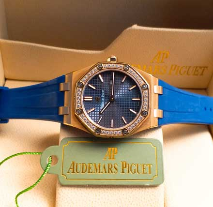 AP RO ladies leather rubber mesin batre 34mm16 Jam Tangan Audemars Piguet AP Wanita Permata