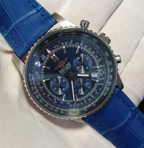 BREITLING navitimer unisex leather blue silver 40mm Rp 460.000 465x480