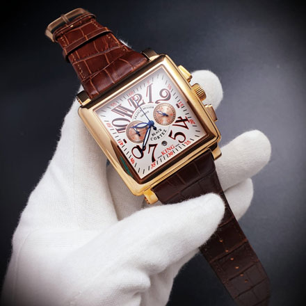 Franck Muller masters gold brown 4.7 cm type 6002 . Stainless . Mesin baterai5