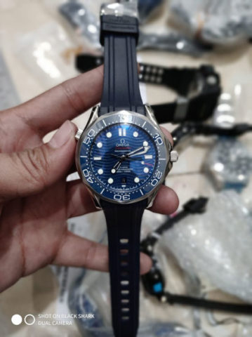 Omega seamaster rubber blue silver matic 42mm 955000