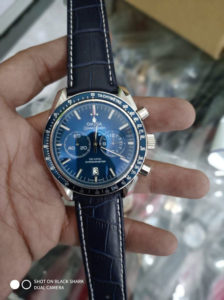 Jam Tangan Omega Speedmaster Leather Blue
