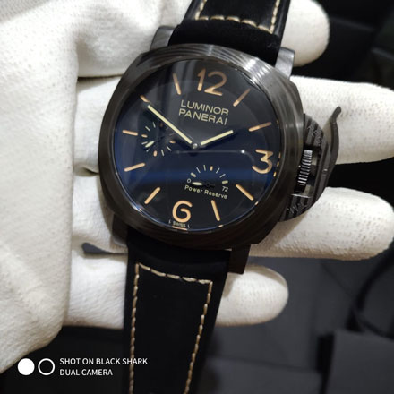 Panerai luminor power reserve leather black matic 4 6cm 2 140 000 Jam Tangan Luminor Panerai Automatic Power Reserve
