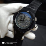 Jam Tangan Hublot King F1 Leather Full Black
