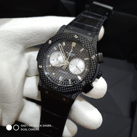 Hublot bigbang carbon leather black owl 4.5cm 820
