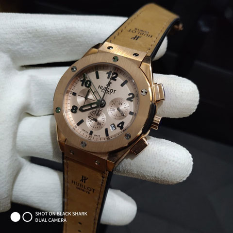 Hublot bigbang ladies leather brown rosegold 3.8cm 820