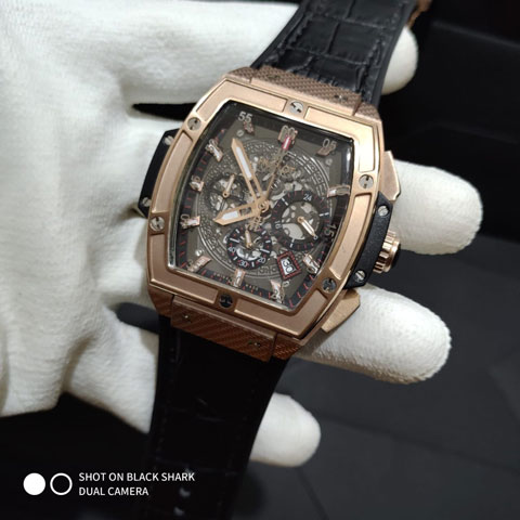 Hublot senna champion 88 leather black rosegold 4.2cm920
