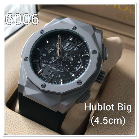 Hublot stone prism rubber 46mm grey