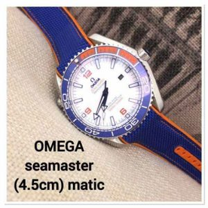 Jam Tangan Omega Seamaster Rubber Blue Orange Matic