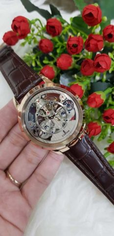 CORUM Matic For Man 45mm Strap Leather warna rosegold coklat 233x480
