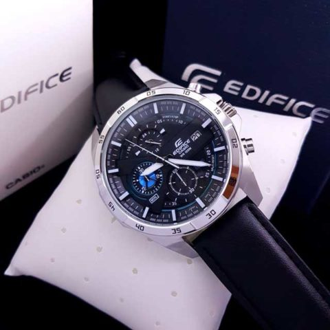 Casio Edifice type EFR 556 leather strap Mesin jepang Stainless steel 4.5cm 480x480