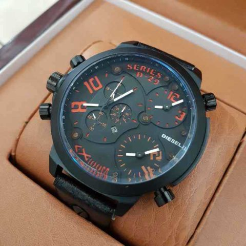 Diesel D 29 black triple time leather 5cm 480x480