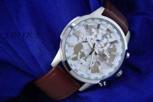Jam Tangan Edifice World EF-303 Leather