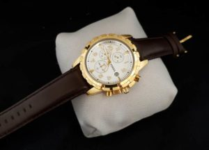 Jam Tangan Fossil LH-9031 Chrono Gold Leather