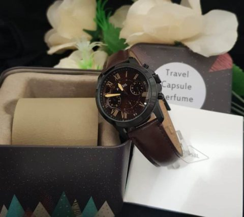 Fossil grant ladies leather coklat 480x427