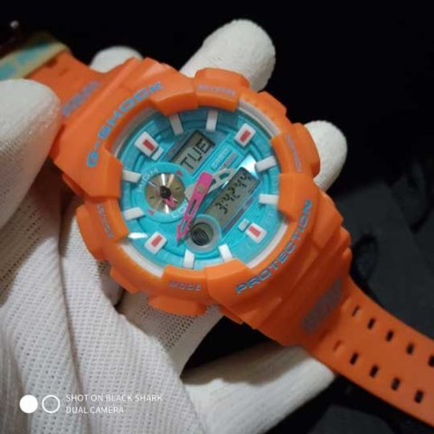 G shock GAX 100 rubber orange premium 4.8cm 480x480