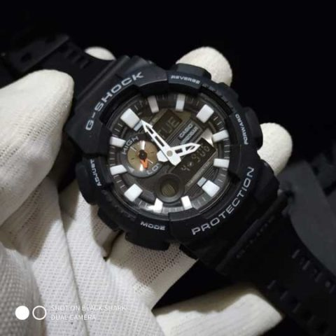 G shock GAX 100 rubber premium 4.8cm black white 480x480