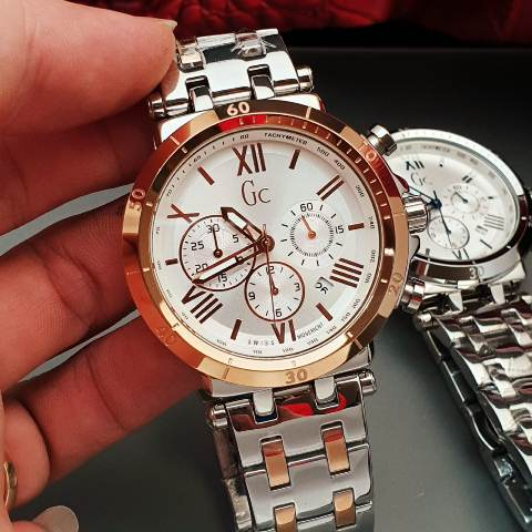 Gc Guess Collection men stainless chrono 4.6 cm silver rosegold