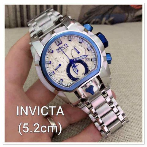 Invicta BOLD silver blue type 2682 Stainless mesin baterai 4.9cm