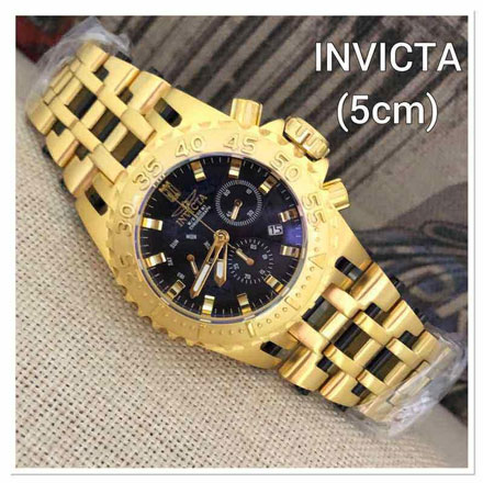 Invicta gear Rantai Gold black5cm Jam Tangan Invicta Gear IG2862