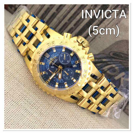 Invicta gear Rantai Gold blue 5cm Jam Tangan Invicta Gear IG2862