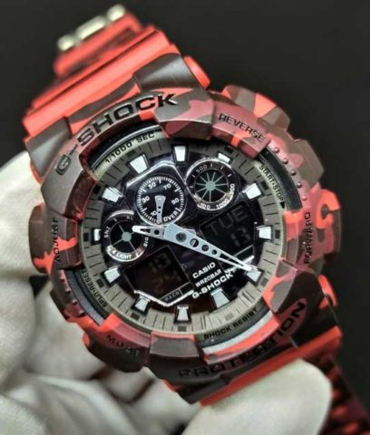 G shock GA 100 rubber premium army red 408x480