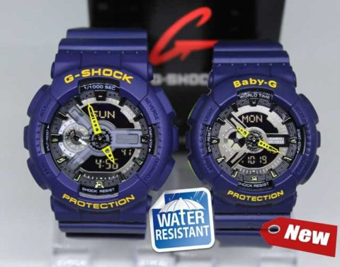 G shock couple ga 110 double colour anti air warna biru 480x377