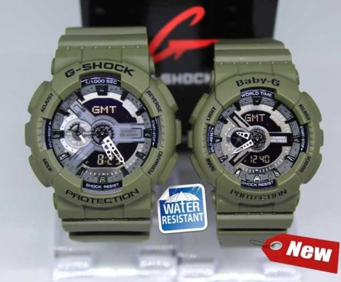 G shock couple ga 110 double colour anti air warna hijau d 5 d 4 480x398
