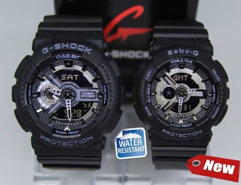 G shock couple ga 110 double colour anti air warna hitam ungu 480x369