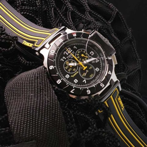 Tissot T Race Racing 4.5 cm Stainless steel Choronograph rubber strap black yellow