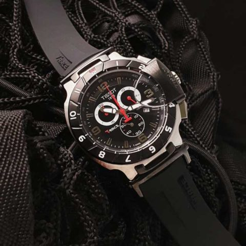 Tissot T Race Racing 4.5 cm Stainless steel Choronograph rubber strap silver black