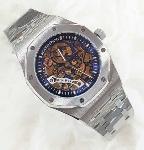 AP AUDEMARS PIGUET skeleton silver matic 4 4cm LIST BIRU 463x480 Jam Tangan Audemars Piguet Skeleton Matic Chain II