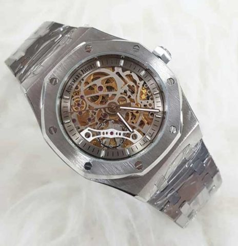 AP AUDEMARS PIGUET skeleton silver matic 4 4cm list silver 464x480 Jam Tangan Audemars Piguet Skeleton Matic Chain II