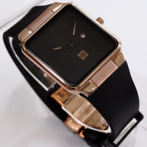 Givenchy Rubber unisex black rubber rosegold 3.6cm 480x480