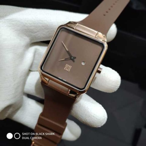 Givenchy Rubber unisex brown rosegold 3 6cm 480x480 Jam Tangan Kotak Givenchy Rubber II
