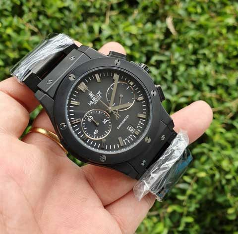 Hublot men bigbang chronometer Full black stainless 480x473 Jam Tangan Hublot Bigbang Chronometer Chain