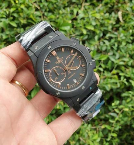 Hublot men bigbang chronometer black rosegold stainless 441x480 Jam Tangan Hublot Bigbang Chronometer Chain