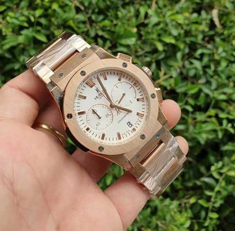 Hublot men bigbang chronometer full rosegoldstainless 480x473 Jam Tangan Hublot Bigbang Chronometer Chain