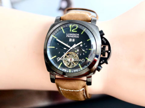 luminor panerai automatic kw super rosegold coklat body hitam 480x359