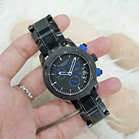 BURBERRY SPORT Black blue Super Batrai For Ladies Full Ceramic Mesin Swiss diameter 38mm