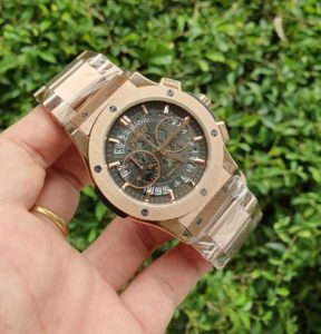 Jam Tangan Hublot Men Skeleton Chain KW Super Grade AAA