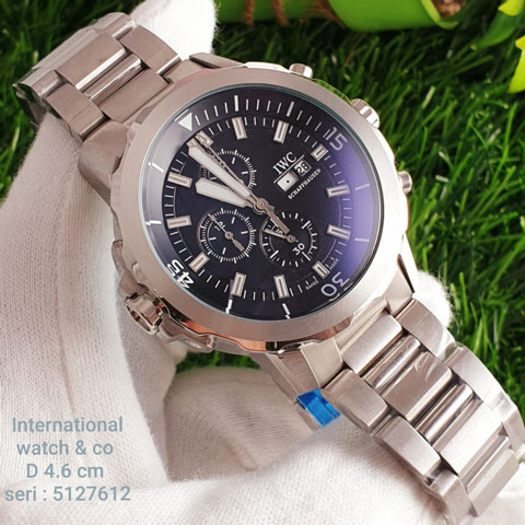 IWC 5127612 chain silver black All stainless steel 4.5cm