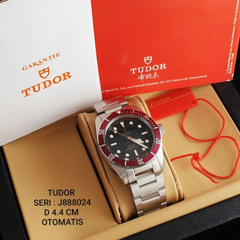 TUDOR Pelagos J888024 ring merah Stainless Mesin automatic 4 4cm Jam Tangan Tudor Pelagos J888024 Include Box Original