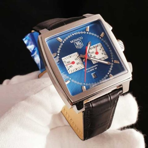 Tagheuer Monaco leather calibre 12 biru 480x480