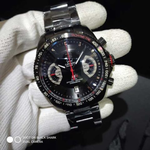 Tagheuer carrera cal 17 RS 2 black red 4.5cm