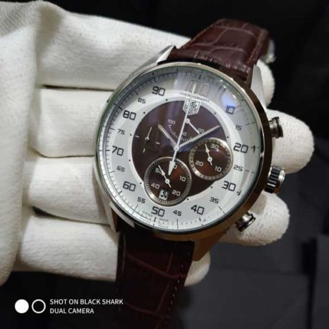 Tagheuer mikrograph leather brown silver bold 47mm 480x480 Jam Tangan Tag Heuer Mikrograph 100