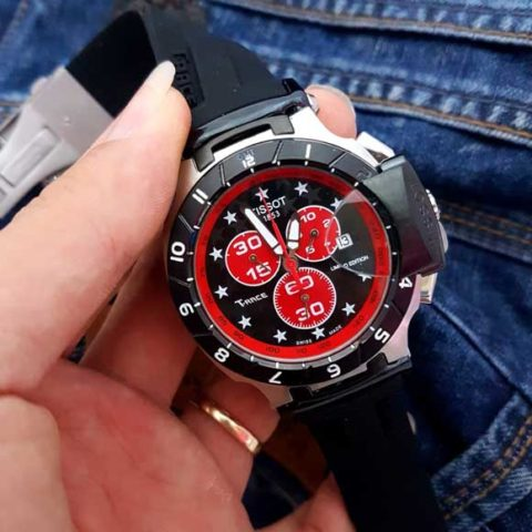 Tissot Triple Chrono hitam rubber 480x480