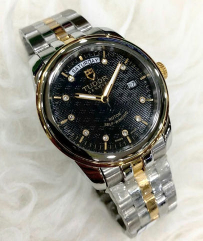 TUDOR daydate 40mm all steel gesper model ori case kombinasi gold mesin otomatis 1