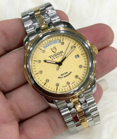 TUDOR daydate 40mm all steel gesper model ori case kombinasi gold mesin otomatis 2