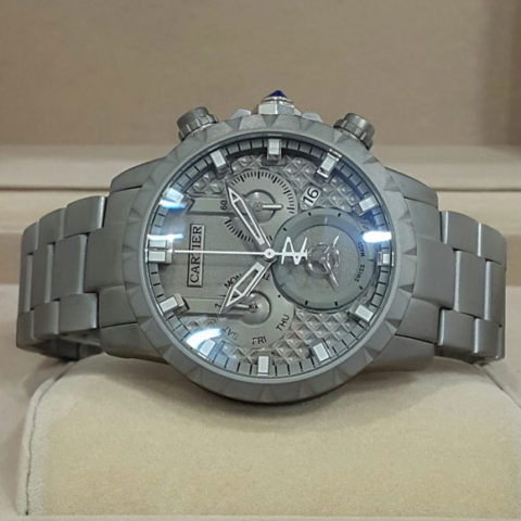 Cartier Divers men chrono grey chain 4.5cm